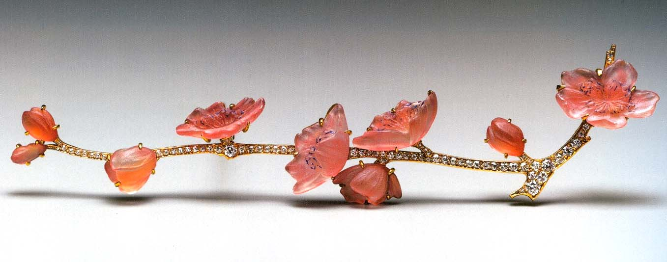 Cherry Blossom Brooch by Rene Lalique