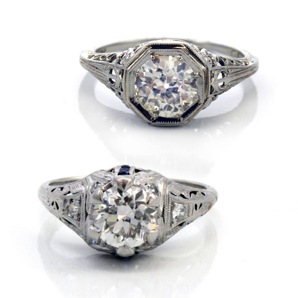vintage art deco engagement rings