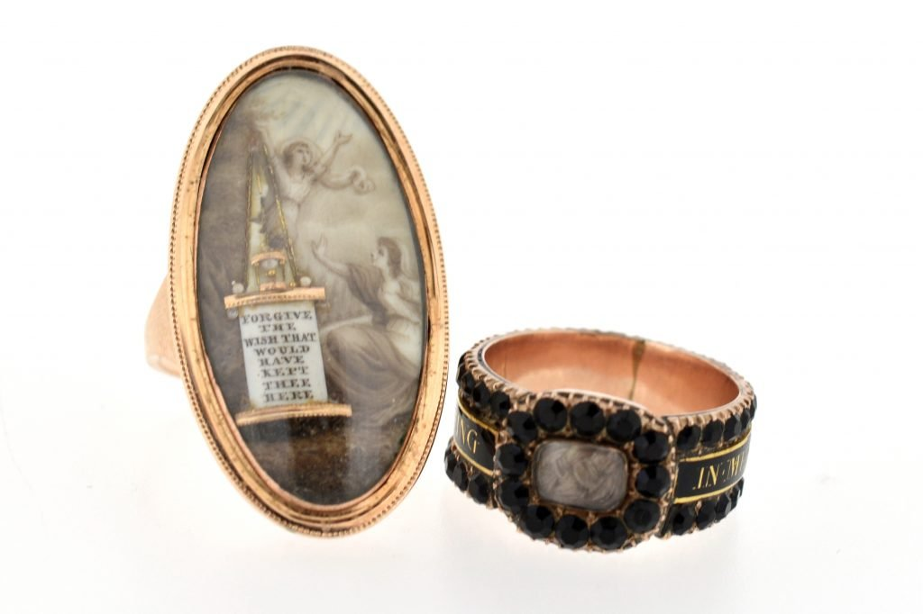 Fellows Auctions, Antique Memorial Rings