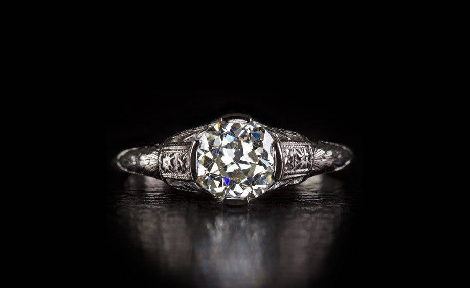 Antique engagement ring on etsy