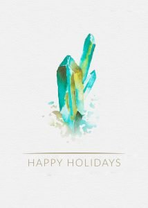 crystal holiday card