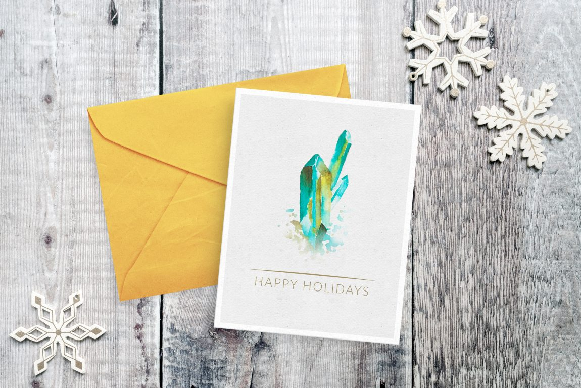 Crystal holiday card