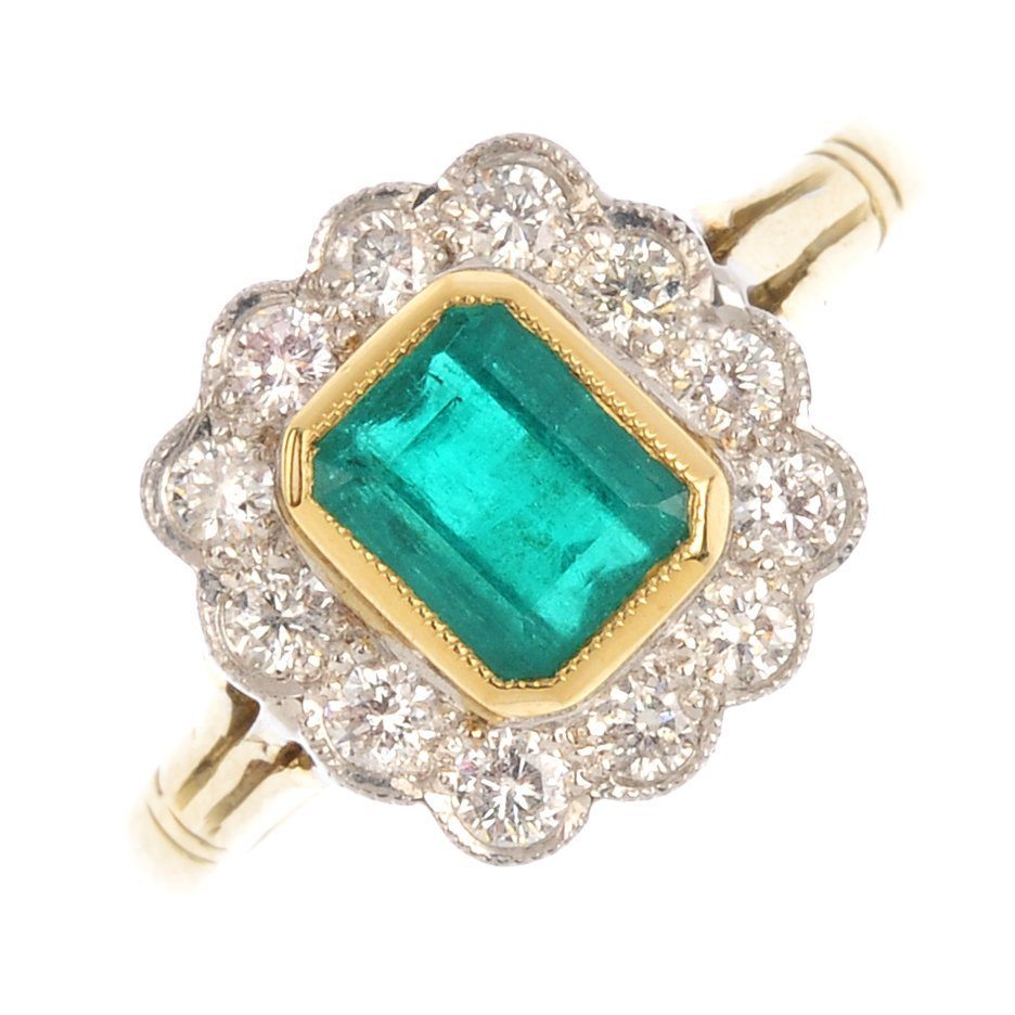 "<a href=""https://www.fellows.co.uk/2104-lot-126-An-18ct-gold-emerald-and-diamond-cluster-ring?utm_source=Ageless%20Heirlooms&utm_medium=blog&utm_campaign=Ageless%20Heirlooms%20Vintage&utm_content=Blog%20and%20social"">LOT 126</a>"