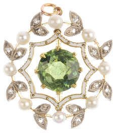 Antique peridot pendant