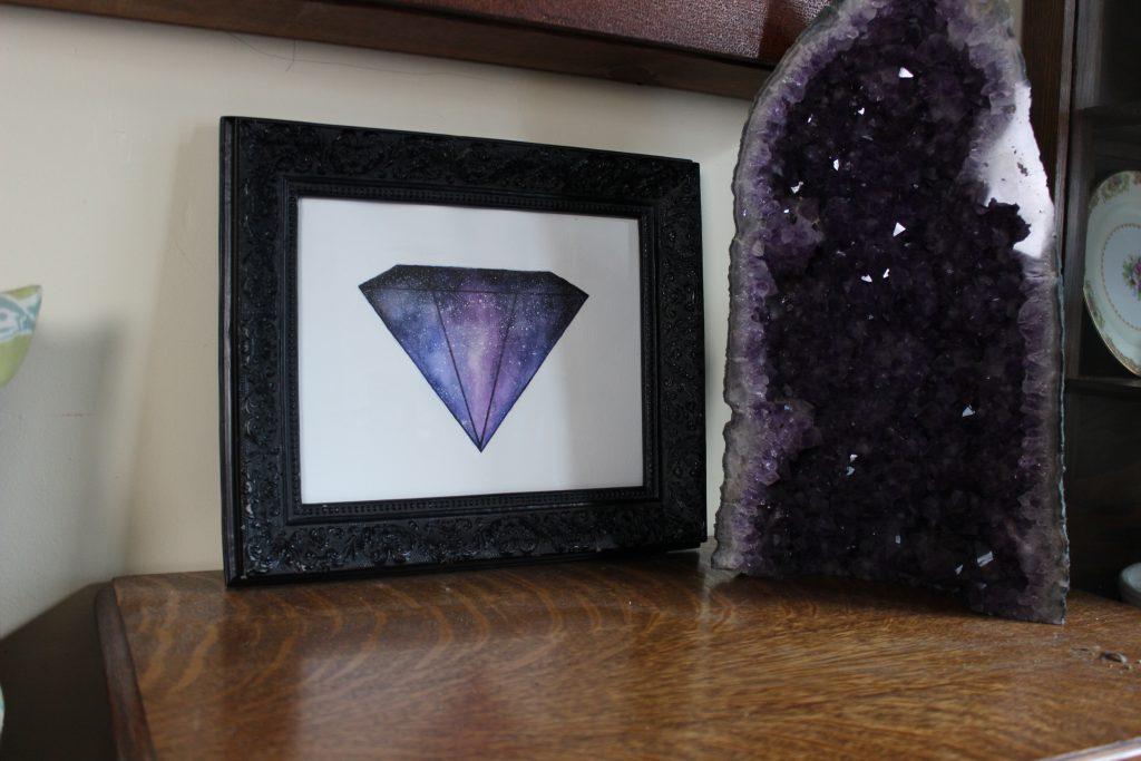 crystal galaxy art
